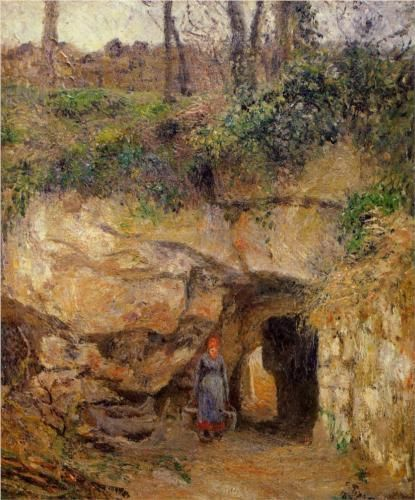 The Carrier at Hermitage, Pontoise - Camille Pissarro. Professional Artist is the foremost business magazine for visual artists. Visit ProfessionalArtistMag.com.