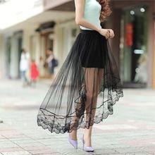 2016 новый летний женская кружева черно - белый юбки перспектива юбки женская мода длинная юбка раздел юбка длинная юбка женская юбка солнце юбки женские(China (Mainland))