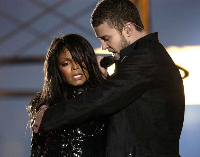 FEBRUARY 1,  2004: Singer, Janet Jackson has a wardrobe malfunction during the half-time show at Super Bowl XXXVIII, resulting in U.S. broadcasters adopting a stronger adherence to FCC censorship guidelines.