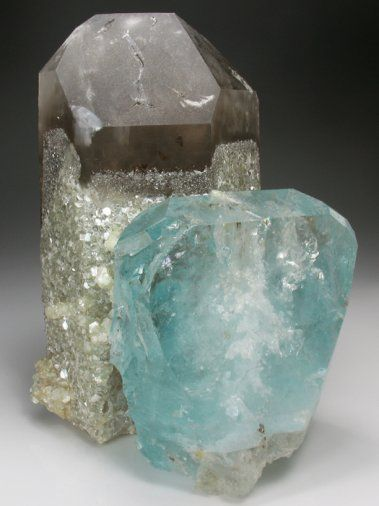 color pairing - blue topaz &  smoky quartz