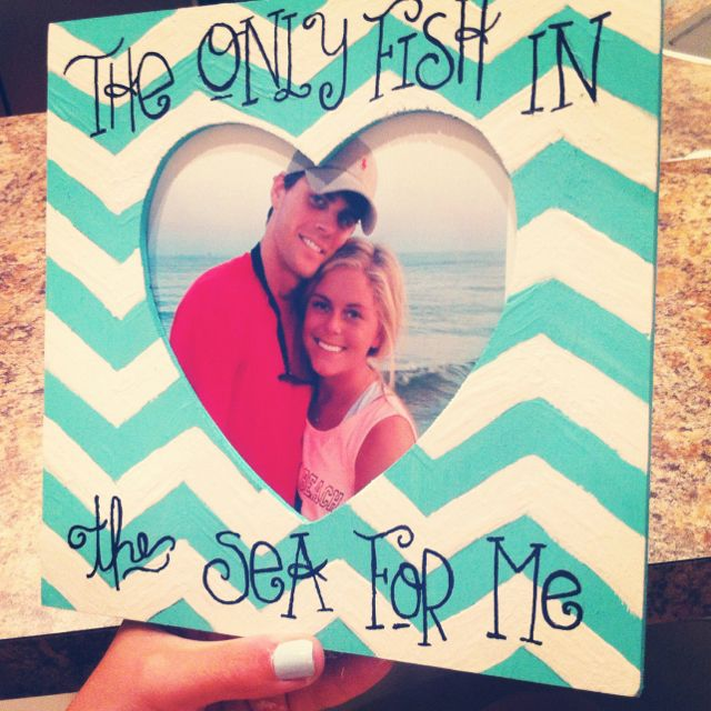Chevron frame with Sharpie words