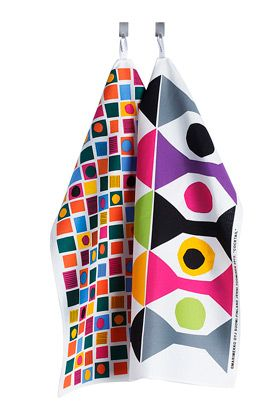 Oliivi tea towel set by Marimekko