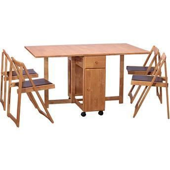 Mesa Dobrável Butterfly c/ 4 Cadeiras HomeTrends                                                                                                                                                                                 Mais