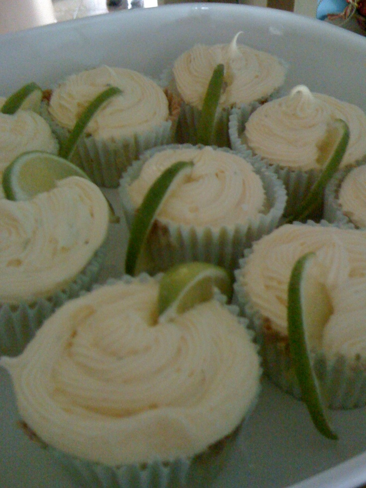 Margarita Cupcakes (w/ and w/out tequila) for this weekend