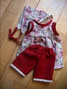 Patron de robe pour poupée 35-40 cm