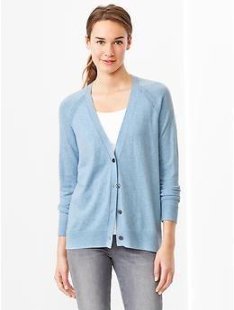 Eversoft V-neck cardigan - Light Blue - The Gap
