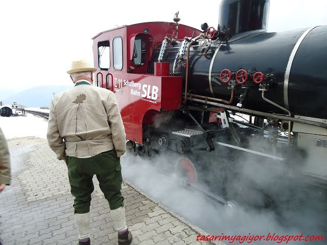 the Schafberg train in Austria