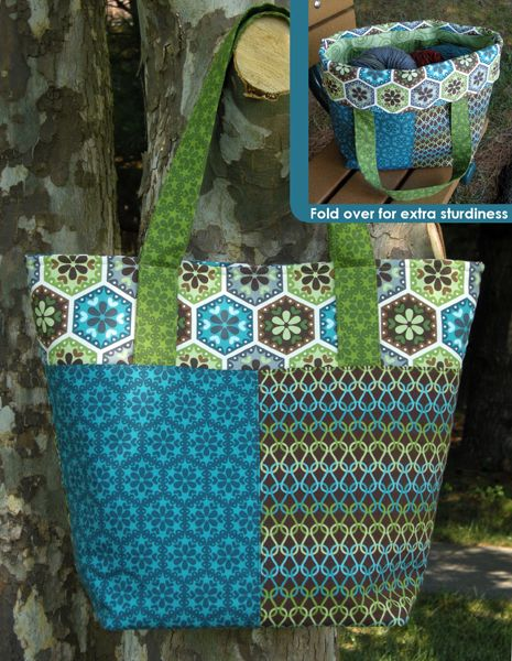 "FREE project: ""Stitch-Along Tote"" by Betz White (from Robert Kaufman Fabrics)"