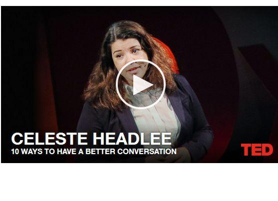 Hoe voer je meer betekenisvolle gesprekken? In dit TED-filmpje (Engels ondertiteld) 10 richtlijnen voor betere conversaties.