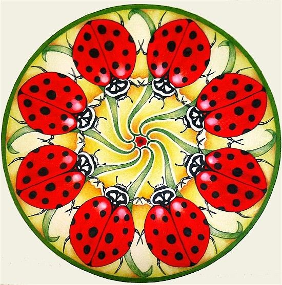 Ladybug Mandala by hollizollinger on Etsy, via Etsy.