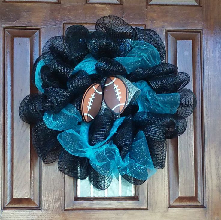 CAROLINA PANTHERS FOOTBALL Super Bowl 50th Wreath~Quarterback Cam Newton~Game Day~Super Bowl Sunday~Get Your Super Bowl Wreath Be4 Sunday by TeesWonderfulWreaths on Etsy