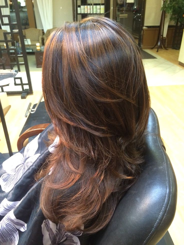 Copper Caramel Highlights Hair Balayage Hair Hair