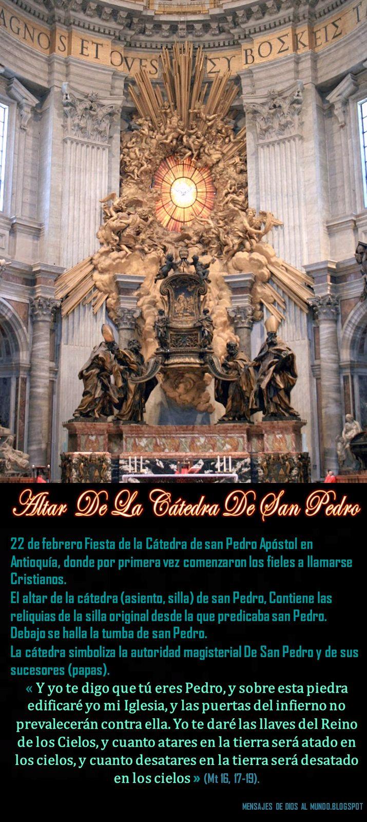 Mensajes De Dios A Su Iglesia Remanente: 22 DE FEBRERO  FIESTA DE LA CÁTEDRA DE SAN PEDRO A...