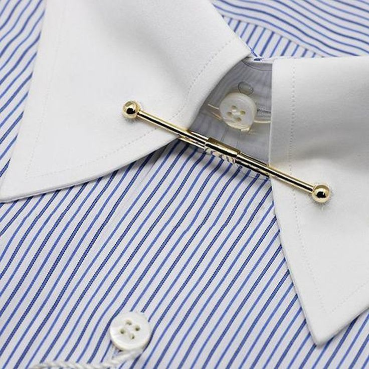 Best 25 collar pin ideas on pinterest tie pin collar for Tie bar collar shirt
