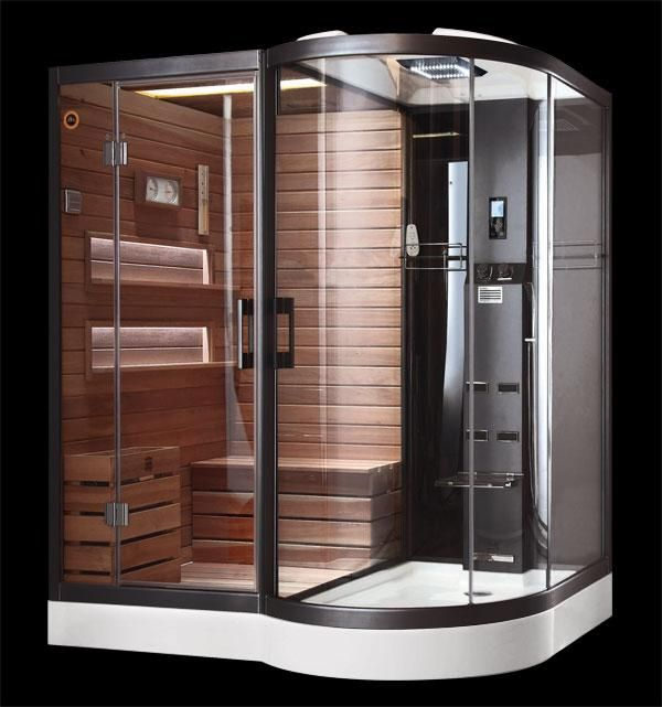 Sauna shower combo for our basement!