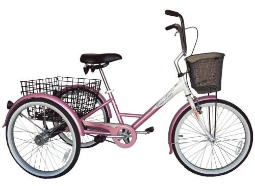 """Husky Cruise Master 24"""" Adult Tricycle, pink pearl."""