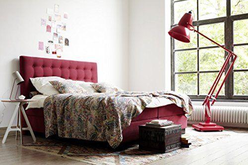 Boxspringbett Carmen 180x200 cm in Zen Red von Schlaraffia