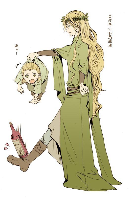 Gay hobbit illustrations