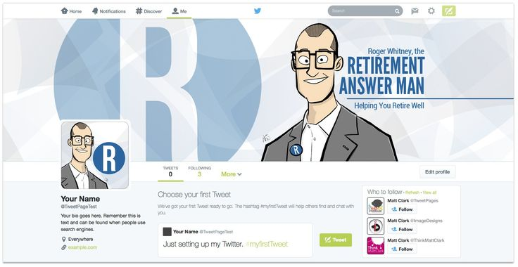 Roger Whitney Twitter Design - by TweetPages.com #TweetPages