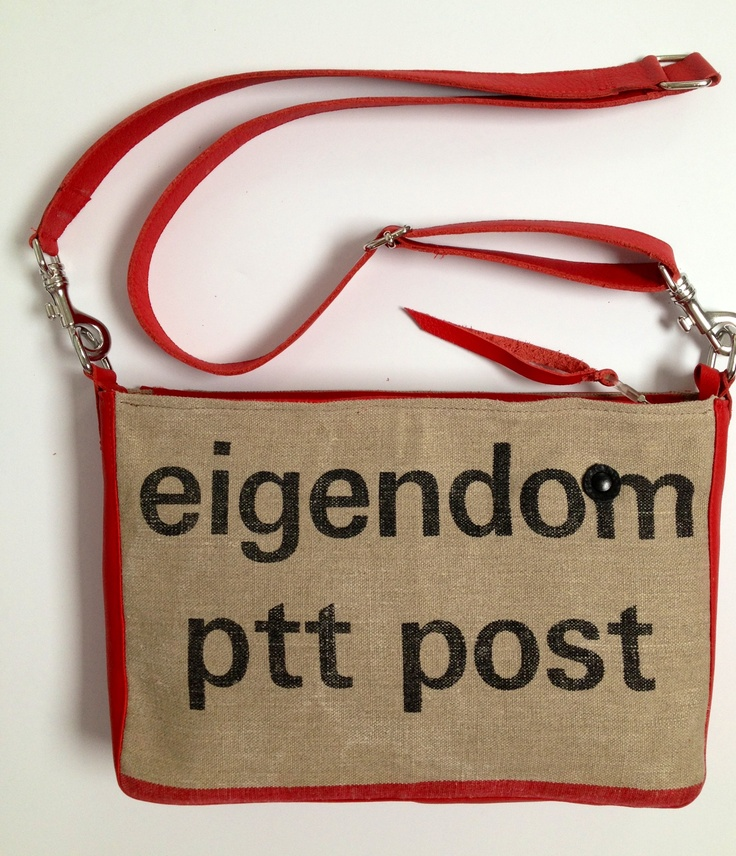 Old Dutch postbag and red leather