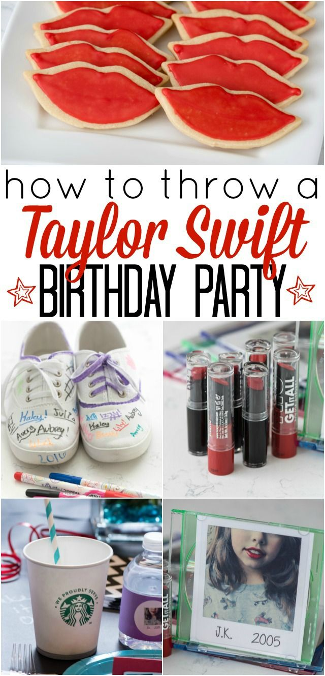 How to throw a Taylor Swift Birthday Party - these DIY party ideas will be perfect for any Taylor Swift fan!