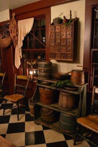 1000 images about primitive life on pinterest dry sink for Primitive interior designs