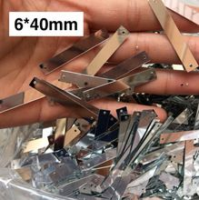 Швейные принадлежности diy материал, долго Блесток 6*40 мм, одно отверстие/двойные отверстия, прямоугольник серебряные блестки прямоугольной ...(China (Mainland))