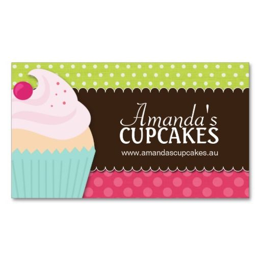 73 best for my bakery images on pinterest petit fours baking cute and whimsical cupcake bakery business cards fully customizable designed by colourful designs inc reheart Images