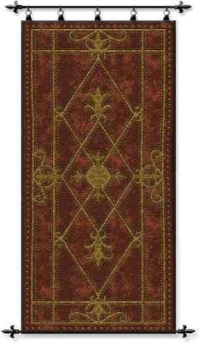 Medieval Castle Edinburg Door Scroll Motif Tapestry Wall Hanging   eBay