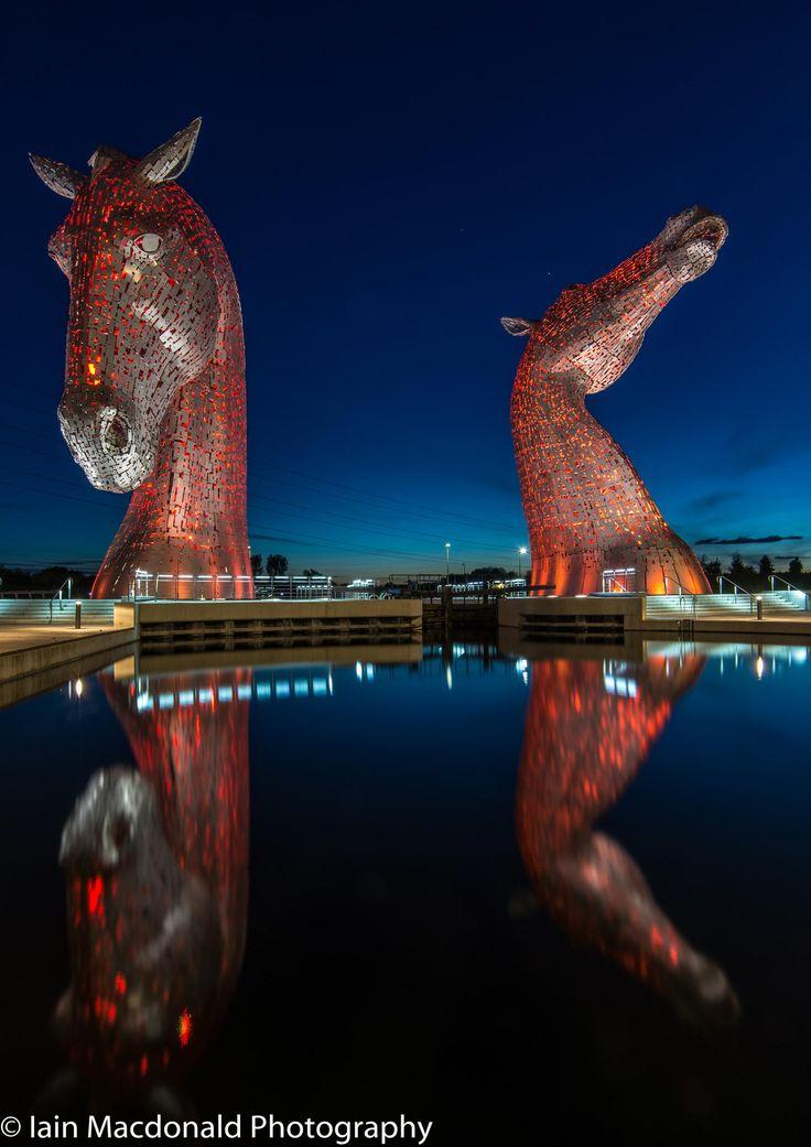The Kelpies Scotland. Beautiful sculpture.