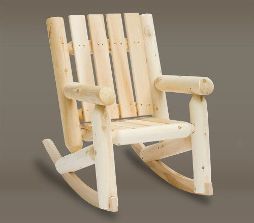 29u2033 Natural Cedar Log Style Wooden Junior Kidu0027s Outdoor Rocking Chair    Click Image Twice