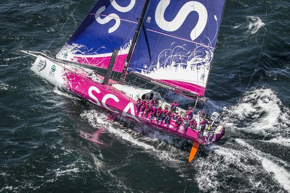 In this handout image provided by the Volvo Ocean Race, Team SCA during the Cape Town Practice Race of the Volvo Ocean Race 2014-15 on November 14, 2014 in Cape Town, South Africa. The Volvo Ocean Race 2014-15 is the 12th running of this ocean marathon. Starting from Alicante in Spain on October 04, 2014, the route, spanning some 39,379 nautical miles, visits 11 ports in eleven countries (Spain, South Africa, United Arab Emirates, China, New Zealand, Brazil, United States, Portugal, France…