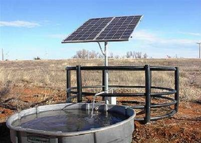 In 1996 all of the water holes in Kruger National Park had windmills by 2000 all had solar pumps like this.