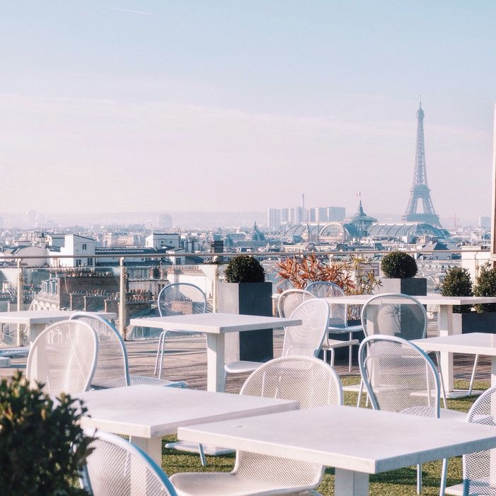 Printemps: take the elevator to the top floor's cafe; great view!