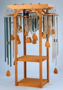 A retailer who sells commercial wind chime display stands