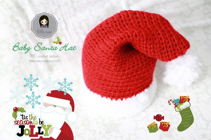 Baby Santa Hat - a free #crochet pattern by Little Mee ...