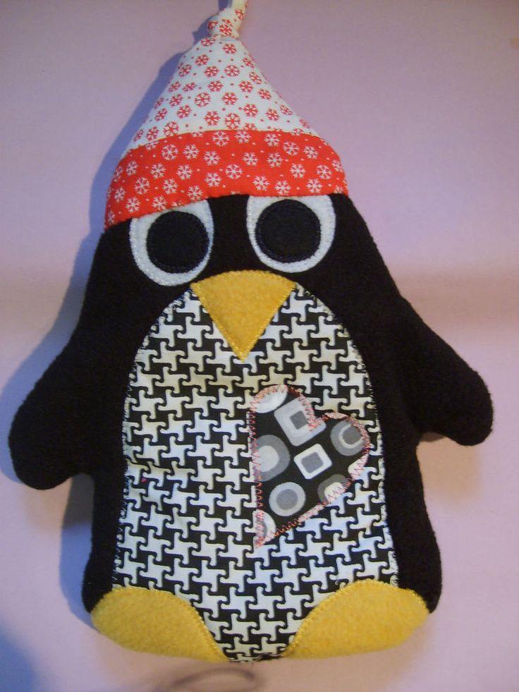 Pinguin Wärmekissen Kuschelkissen Kirschkernkissen aus Fleece, Handarbeit