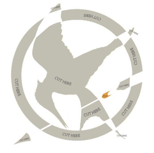 Mockingjay & Hunger Games pumpkin template