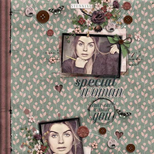 Kit A Woman Like You by Valentina Creations. Template Circles of Love #6 by Heartstrings Scrap Art.  Photo per kind favour of Marta Everest Photography.