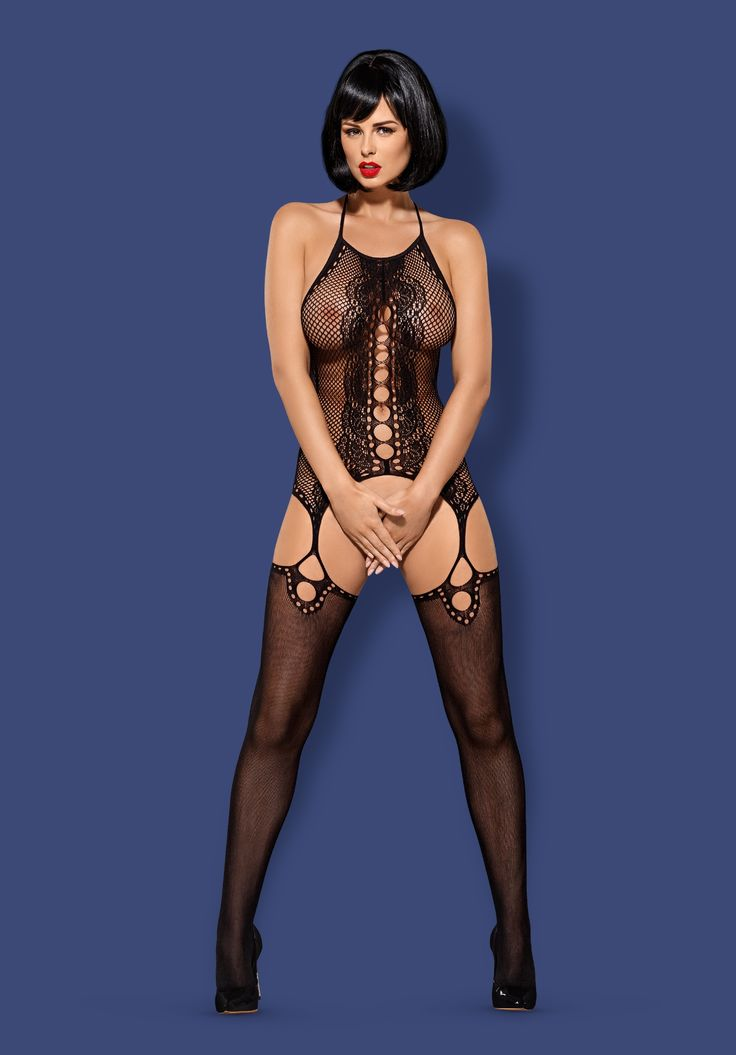 F220 - extremely sexy bodystocking - color: Black - Obsessive