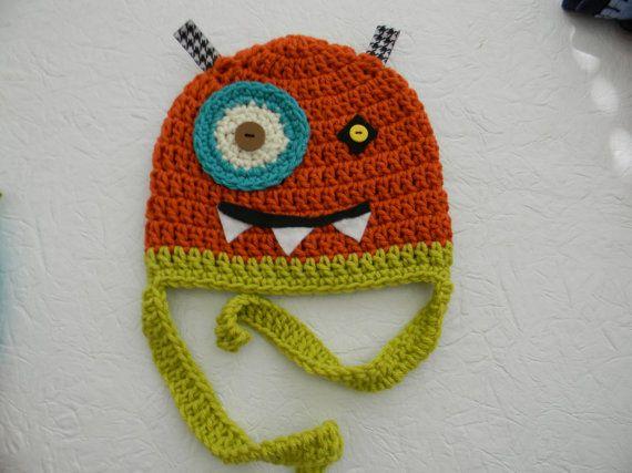 monster hat: Baby Gifts, Crochet Hats, Crochet Monsters Hats, Baby Need, Crochet Monster Hat, Knits Hats, Little Monsters, Crochet Knits, Knits Kids Hats