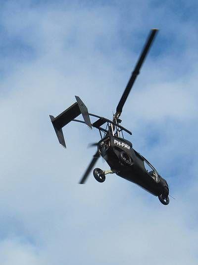 The flying car: http://www.autorevue.at/aktuelles/pal-v-one-das-fliegende-auto-hubschrauber-auto.html