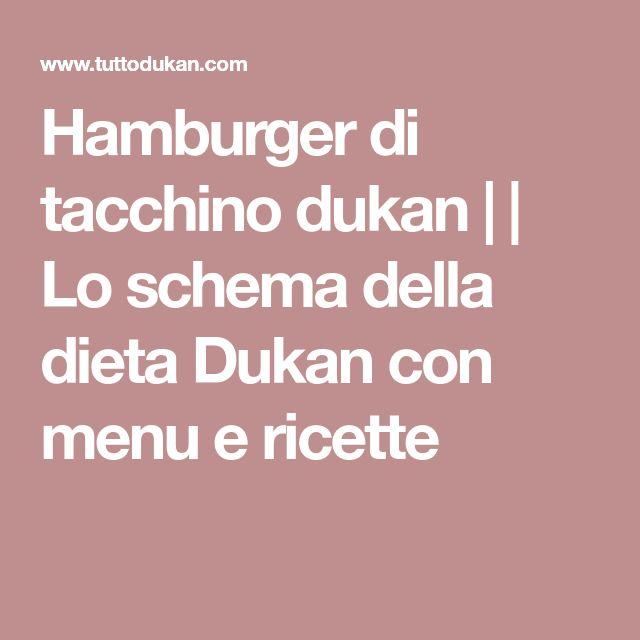 Hamburger di tacchino dukan | | Lo schema della dieta Dukan con menu e ricette