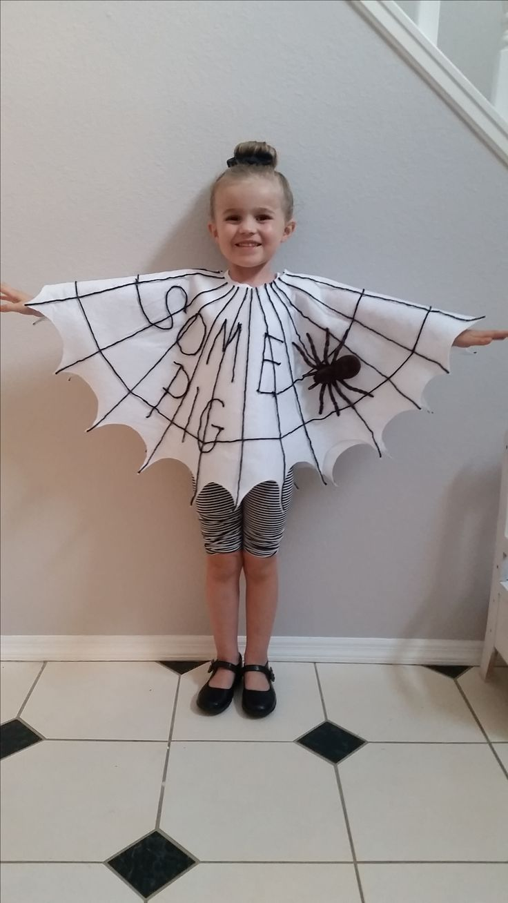 Charlotte's Web costume for book party at school.                                                                                                                                                     More