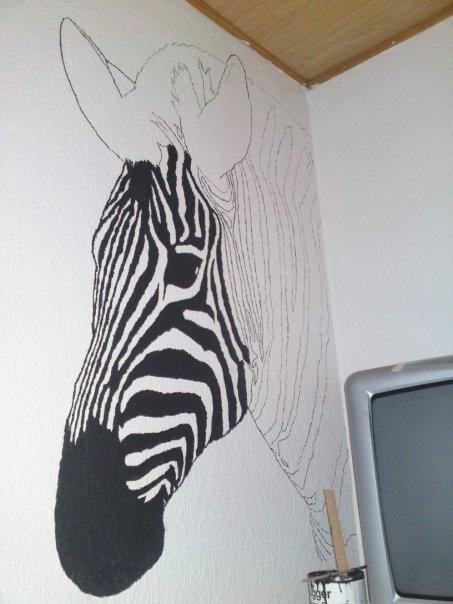 DIY zebra Wall paint