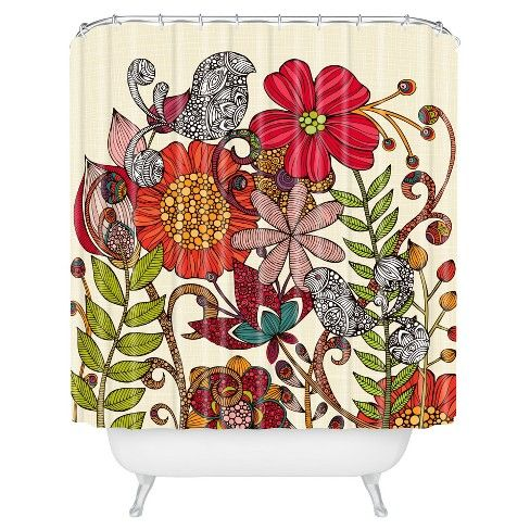 Valentina Ramos Harmonia Shower Curtain Red Deny Designs Red