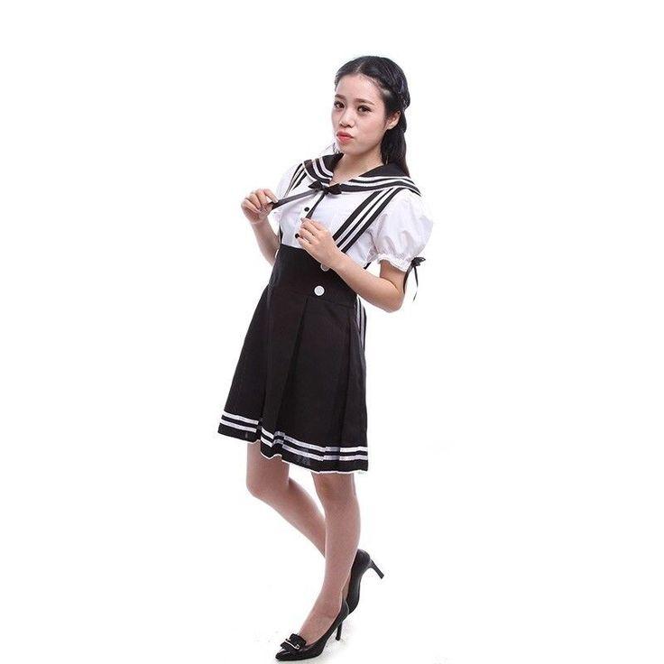 School Girl Dress Outfit Sailor Uniform Cosplay Costume Fancy Dress #schoolgirlcostume #schoolgirl #bestcostumes