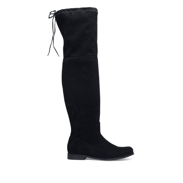 Zwarte overknee laarzen #overknee laarzen #laarzen #black