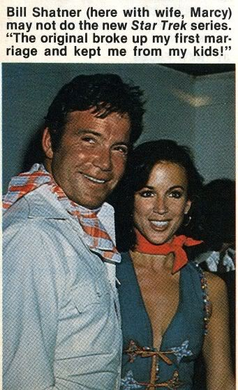 William Shatner And Actress Wife 2 Marcy Lafferty 1973