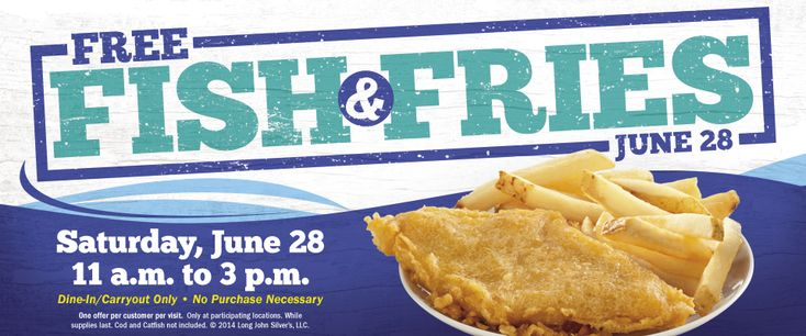 Pinned June 17th: Fish & fries #free the 28th at Long John Silvers #coupon via The #Coupons App